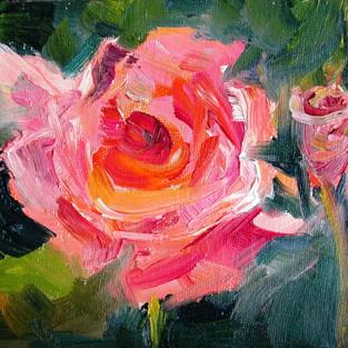 Art: Pink Rose No. 2 by Artist Delilah Smith