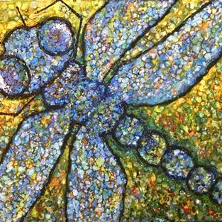 Art: Dragonfly by Artist Ulrike 'Ricky' Martin