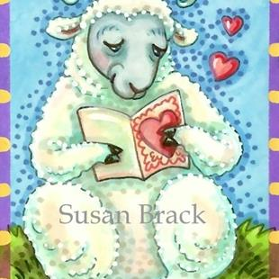 Art: THINKING OF EWE CARD by Artist Susan Brack