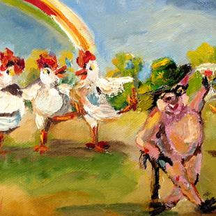 Art: Conga Chickens Go Irish by Artist Delilah Smith