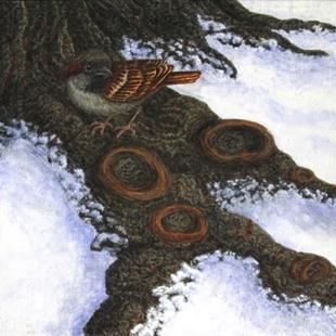 Art: Winter Respite by Artist Jackie K. Hixon