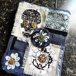 Art: Steampunk Purse #15 by Artist Vicky Helms