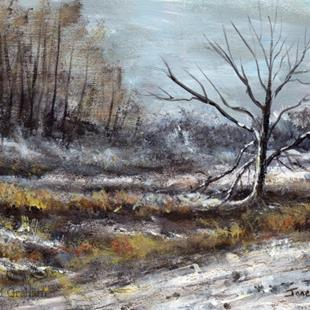 Art: Winters Day by Artist Janet M Graham