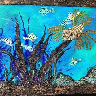 Art: LIONFISH 18x24 by Artist Ke Robinson