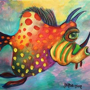 Art: 1647 Reef Fish  by Artist Ke Robinson