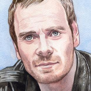 Art: Michael Fassbender by Artist Mark Satchwill