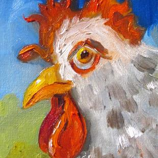 Art: Perky Rooster by Artist Delilah Smith