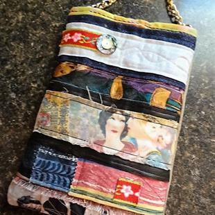 Art: Boho Purse #7 by Artist Vicky Helms