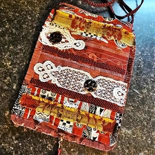 Art: Boho Purse #14 by Artist Vicky Helms