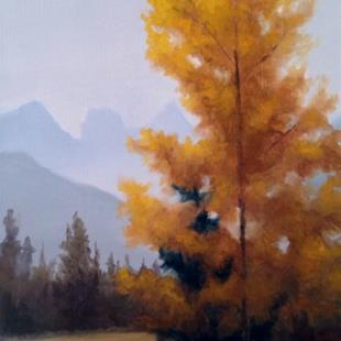Art: The Three Sisters, Alberta Canada by Artist Christine E. S. Code ~CES~