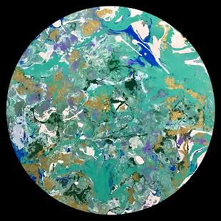 Art: Abstract Disc 2 by Artist Ulrike 'Ricky' Martin