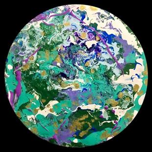 Art: Abstract Disc 3 by Artist Ulrike 'Ricky' Martin