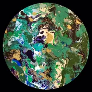 Art: Abstract Disc 4 by Artist Ulrike 'Ricky' Martin