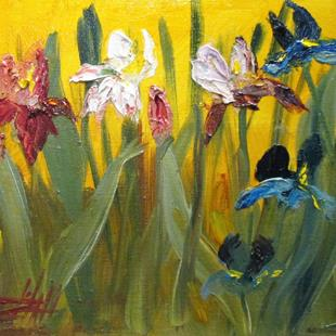 Art: Iris-sold by Artist Delilah Smith
