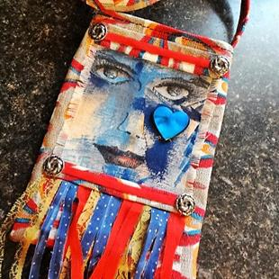 Art: Boho Purse #19 by Artist Vicky Helms