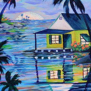 Art: Island House #S1550 by Artist Ke Robinson