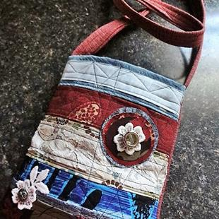 Art: Boho Purse #22 by Artist Vicky Helms