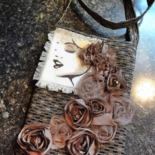 Art: Boho Purse #23 by Artist Vicky Helms
