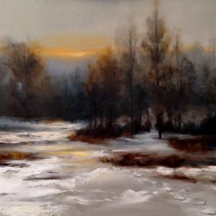 Art: Winter Walk by Artist Christine E. S. Code ~CES~