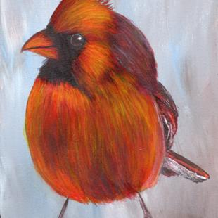 Art: Cardinal by Artist Janet M Graham