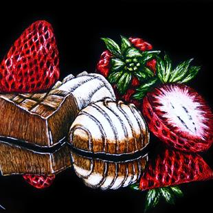 Art: Dessert is Magical  (SOLD) by Artist Monique Morin Matson