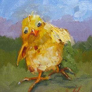 Art: Spring Chick by Artist Delilah Smith