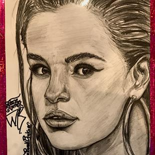 Art: Selena Gorgeous Gomez. by Artist William Powell Brukner
