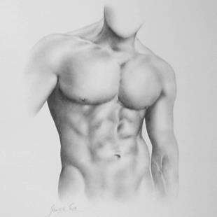 Art: Male Torso by Artist Ewa Kienko Gawlik