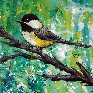 Art: Chicadee (SOLD) by Artist Vicky Helms