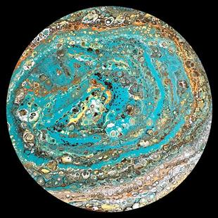 Art: Abstract  Disk 17 by Artist Ulrike 'Ricky' Martin