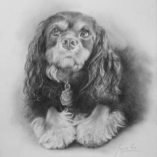Art: Portrait of the Dog by Artist Ewa Kienko Gawlik