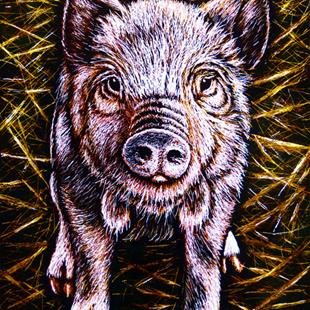 Art: Piggy  (SOLD) by Artist Monique Morin Matson