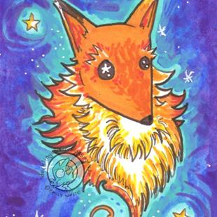 Art: Sky Fox by Artist Emily J White