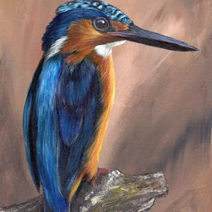 Art: Madagascar Kingfisher by Artist Janet M Graham