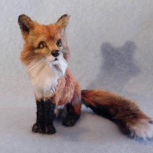 Art: Bamboo Furred Red Fox by Artist Camille Meeker Turner