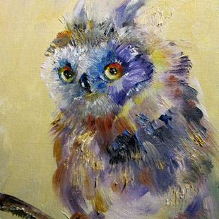 Art: Owl by Artist Delilah Smith