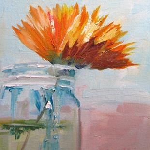 Art: Flower in a Jar by Artist Delilah Smith