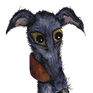 Art: ALOOF GREYHOUND g250 by Artist Dawn Barker