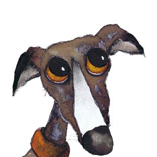 Art: LOVE FOR YOU G262 greyhound by Artist Dawn Barker