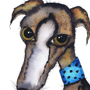 Art: GREYHOUND g271 by Artist Dawn Barker