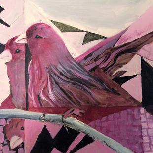 Art: House Finches by Artist Judith A Brody