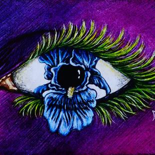 Art: Iris Eye  (SOLD) by Artist Monique Morin Matson