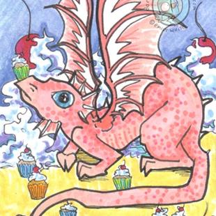 Art: Sugar Pie Dragon by Artist Emily J White