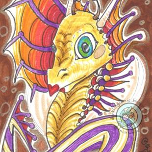 Art: Harlequin Dragon by Artist Emily J White