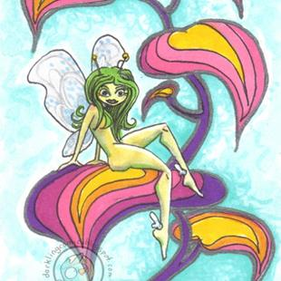 Art: Glowbug Fairy by Artist Emily J White