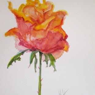 Art: Bright Rose by Artist Delilah Smith