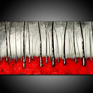 Art: RED WOOD by Artist Kate Challinor