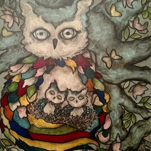 Art: The Nursery - with butterflies by Artist Chris Jeanguenat
