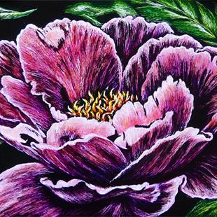 Art: Peony  (SOLD) by Artist Monique Morin Matson