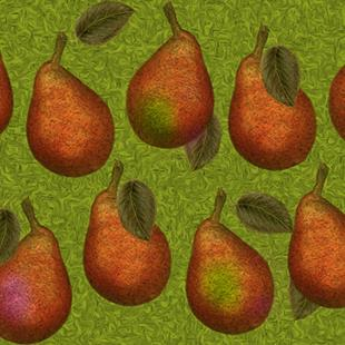 Art: Pear Fabric Design by Artist Alma Lee